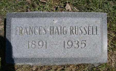 HAIG RUSSELL, FRANCES - Red Willow County, Nebraska | FRANCES HAIG RUSSELL - Nebraska Gravestone Photos