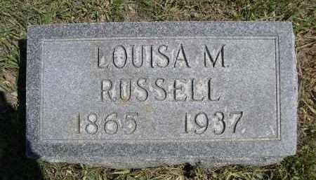 RUSSELL, LOUISA M. - Red Willow County, Nebraska   LOUISA M. RUSSELL - Nebraska Gravestone Photos