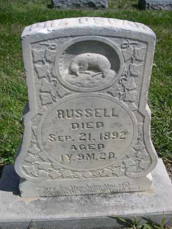 RUSSELL, ORA RUSSELL - Red Willow County, Nebraska   ORA RUSSELL RUSSELL - Nebraska Gravestone Photos