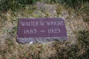 WRIGHT, WALTER W. - Red Willow County, Nebraska   WALTER W. WRIGHT - Nebraska Gravestone Photos