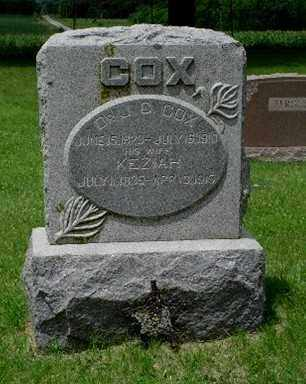 COX, KEZIAH - Richardson County, Nebraska | KEZIAH COX - Nebraska Gravestone Photos