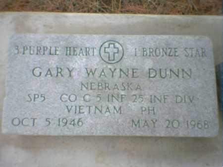 DUNN, GARY WAYNE - Richardson County, Nebraska | GARY WAYNE DUNN - Nebraska Gravestone Photos