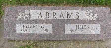 ABRAMS, HOMER G. - Saline County, Nebraska | HOMER G. ABRAMS - Nebraska Gravestone Photos