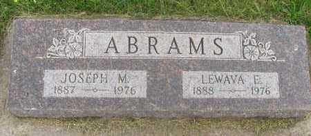 ABRAMS, JOSEPH M. - Saline County, Nebraska | JOSEPH M. ABRAMS - Nebraska Gravestone Photos