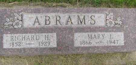 ABRAMS, MARY I. - Saline County, Nebraska | MARY I. ABRAMS - Nebraska Gravestone Photos