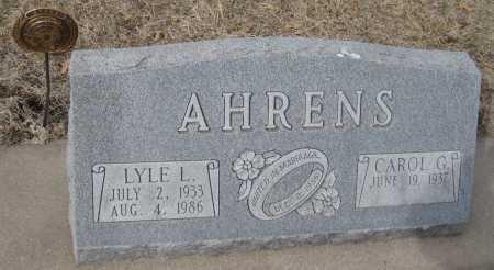 AHRENS, CAROL G. - Saline County, Nebraska | CAROL G. AHRENS - Nebraska Gravestone Photos