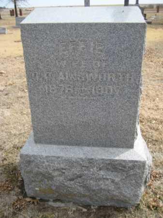 AINSWORTH, EFFIE - Saline County, Nebraska | EFFIE AINSWORTH - Nebraska Gravestone Photos