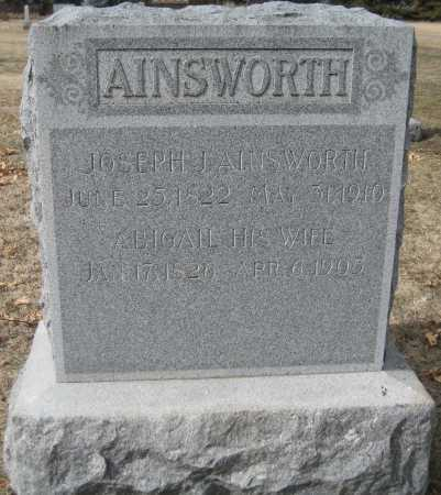AINSWORTH, ABIGAIL - Saline County, Nebraska | ABIGAIL AINSWORTH - Nebraska Gravestone Photos