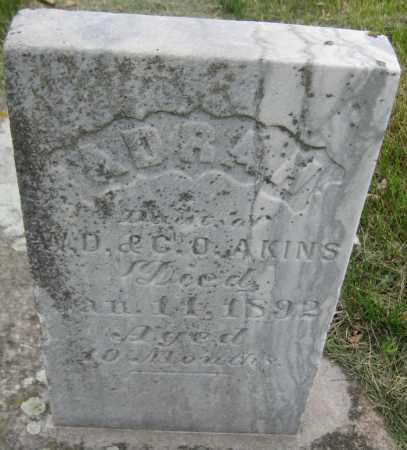 AKINS, ADRAH - Saline County, Nebraska | ADRAH AKINS - Nebraska Gravestone Photos