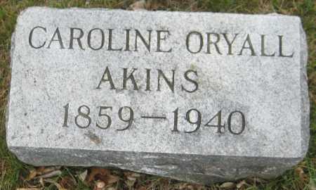 AKINS, CAROLINE ORYALL - Saline County, Nebraska | CAROLINE ORYALL AKINS - Nebraska Gravestone Photos
