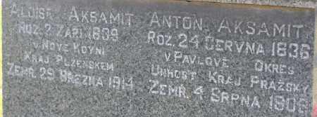 AKSAMIT, ANTON - Saline County, Nebraska   ANTON AKSAMIT - Nebraska Gravestone Photos