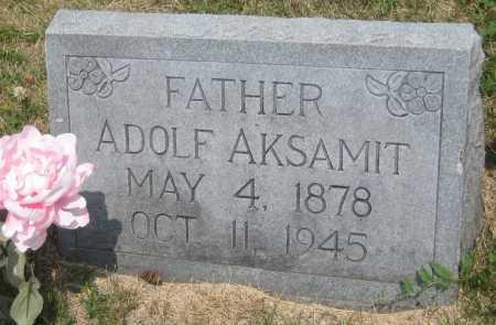 AKSAMIT, ADOLF - Saline County, Nebraska | ADOLF AKSAMIT - Nebraska Gravestone Photos