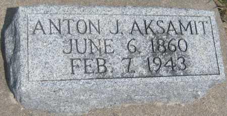 AKSAMIT, ANTON J. - Saline County, Nebraska | ANTON J. AKSAMIT - Nebraska Gravestone Photos