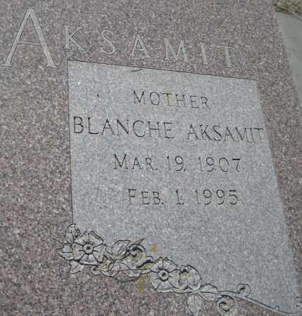 AKSAMIT, BLANCHE - Saline County, Nebraska | BLANCHE AKSAMIT - Nebraska Gravestone Photos
