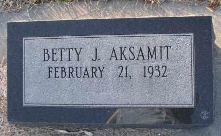 AKSAMIT, BETTY J. - Saline County, Nebraska | BETTY J. AKSAMIT - Nebraska Gravestone Photos