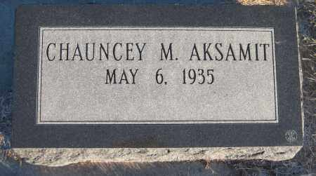 AKSAMIT, CHAUNCEY MAURICE - Saline County, Nebraska | CHAUNCEY MAURICE AKSAMIT - Nebraska Gravestone Photos