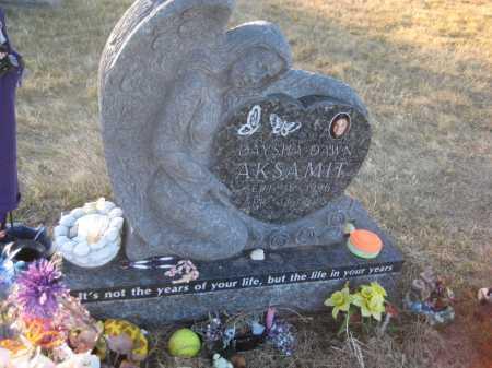 AKSAMIT, DAYSHA DAWN - Saline County, Nebraska | DAYSHA DAWN AKSAMIT - Nebraska Gravestone Photos