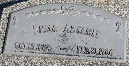 AKSAMIT, EMMA - Saline County, Nebraska | EMMA AKSAMIT - Nebraska Gravestone Photos