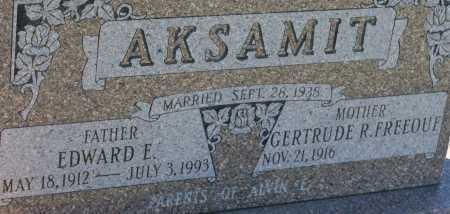 AKSAMIT, EDWARD E. - Saline County, Nebraska | EDWARD E. AKSAMIT - Nebraska Gravestone Photos
