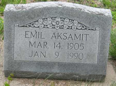 AKSAMIT, EMIL - Saline County, Nebraska | EMIL AKSAMIT - Nebraska Gravestone Photos