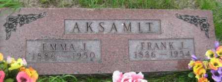 AKSAMIT, EMMA J. - Saline County, Nebraska | EMMA J. AKSAMIT - Nebraska Gravestone Photos