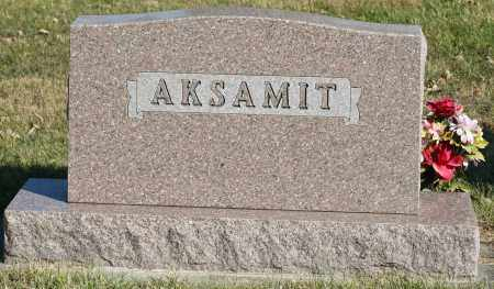 AKSAMIT, FAMILY MONUMENT - Saline County, Nebraska | FAMILY MONUMENT AKSAMIT - Nebraska Gravestone Photos