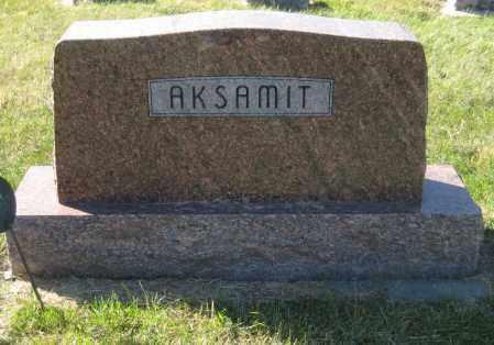 AKSAMIT, FAMILY STONE - Saline County, Nebraska   FAMILY STONE AKSAMIT - Nebraska Gravestone Photos
