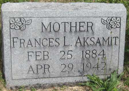 AKSAMIT, FRANCES L. - Saline County, Nebraska | FRANCES L. AKSAMIT - Nebraska Gravestone Photos