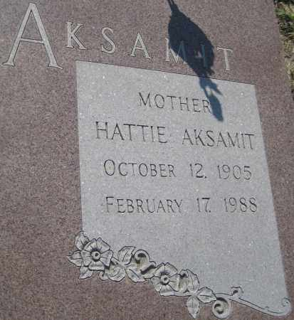 AKSAMIT, HATTIE - Saline County, Nebraska | HATTIE AKSAMIT - Nebraska Gravestone Photos