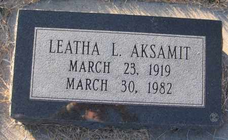 AKSAMIT, LEATHA L. - Saline County, Nebraska | LEATHA L. AKSAMIT - Nebraska Gravestone Photos