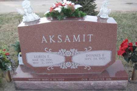 AKSAMIT, DONNIS F. - Saline County, Nebraska | DONNIS F. AKSAMIT - Nebraska Gravestone Photos