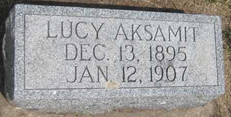 AKSAMIT, LUCY - Saline County, Nebraska | LUCY AKSAMIT - Nebraska Gravestone Photos