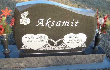 AKSAMIT, MARY ANNE - Saline County, Nebraska | MARY ANNE AKSAMIT - Nebraska Gravestone Photos