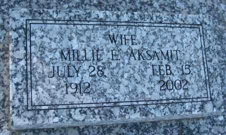 AKSAMIT, MILLIE E. - Saline County, Nebraska | MILLIE E. AKSAMIT - Nebraska Gravestone Photos