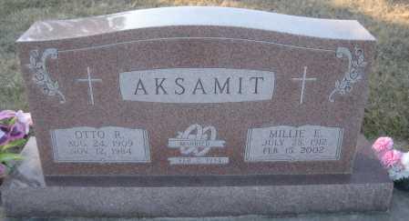 AKSAMIT, OTTO R. - Saline County, Nebraska | OTTO R. AKSAMIT - Nebraska Gravestone Photos