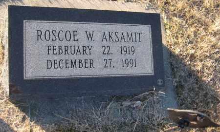 AKSAMIT, ROSCOE W. - Saline County, Nebraska   ROSCOE W. AKSAMIT - Nebraska Gravestone Photos