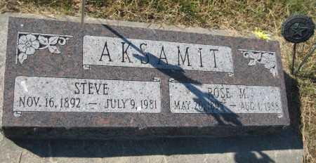 AKSAMIT, STEVE - Saline County, Nebraska | STEVE AKSAMIT - Nebraska Gravestone Photos