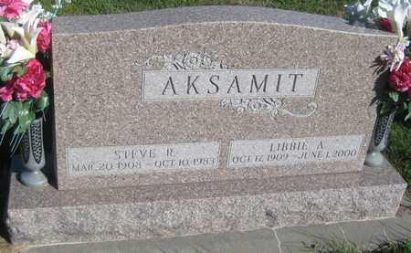 AKSAMIT, LIBBIE ANN - Saline County, Nebraska | LIBBIE ANN AKSAMIT - Nebraska Gravestone Photos
