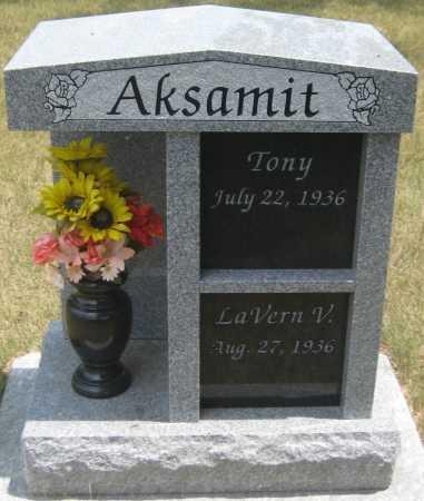 AKSAMIT, TONY - Saline County, Nebraska   TONY AKSAMIT - Nebraska Gravestone Photos