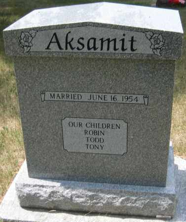 AKSAMIT, TONY - Saline County, Nebraska | TONY AKSAMIT - Nebraska Gravestone Photos