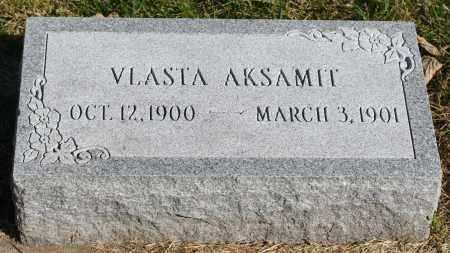 AKSAMIT, VLASTA - Saline County, Nebraska | VLASTA AKSAMIT - Nebraska Gravestone Photos