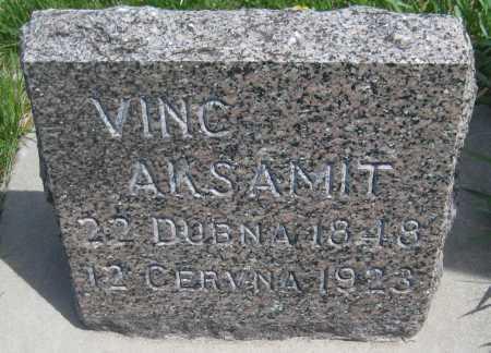 AKSAMIT, VINC - Saline County, Nebraska | VINC AKSAMIT - Nebraska Gravestone Photos