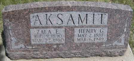 AKSAMIT, ZALA ESTELLE - Saline County, Nebraska | ZALA ESTELLE AKSAMIT - Nebraska Gravestone Photos