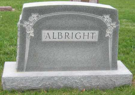 ALBRIGHT, FAMILY MONUMENT - Saline County, Nebraska | FAMILY MONUMENT ALBRIGHT - Nebraska Gravestone Photos