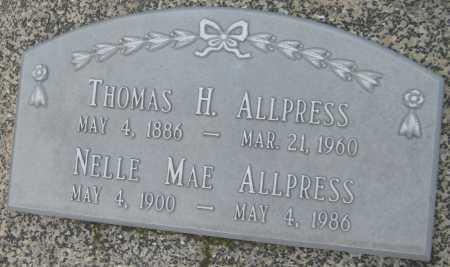 ALLPRESS, NELLE MAE - Saline County, Nebraska   NELLE MAE ALLPRESS - Nebraska Gravestone Photos