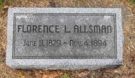 ALLSMAN, FLORENCE L. - Saline County, Nebraska | FLORENCE L. ALLSMAN - Nebraska Gravestone Photos