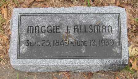 ALLSMAN, MAGGIE J. - Saline County, Nebraska | MAGGIE J. ALLSMAN - Nebraska Gravestone Photos