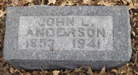 ANDERSON, JOHN L. - Saline County, Nebraska | JOHN L. ANDERSON - Nebraska Gravestone Photos