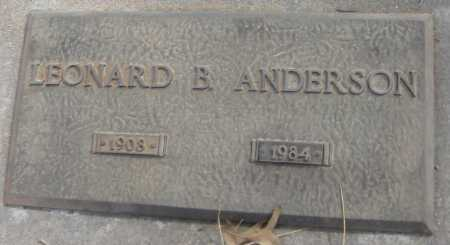 ANDERSON, LEONARD B. - Saline County, Nebraska | LEONARD B. ANDERSON - Nebraska Gravestone Photos
