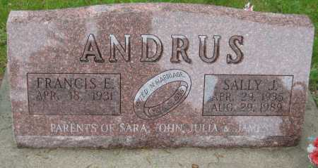 ANDRUS, FRANCIS E. - Saline County, Nebraska | FRANCIS E. ANDRUS - Nebraska Gravestone Photos